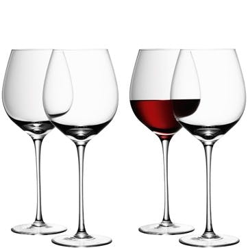 LSA Wine Red Wine Glass 750ml, Set of 4