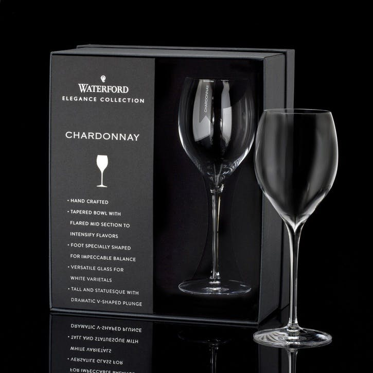 Elegance Crystal Chardonnay Wine Glass, Set Of 2