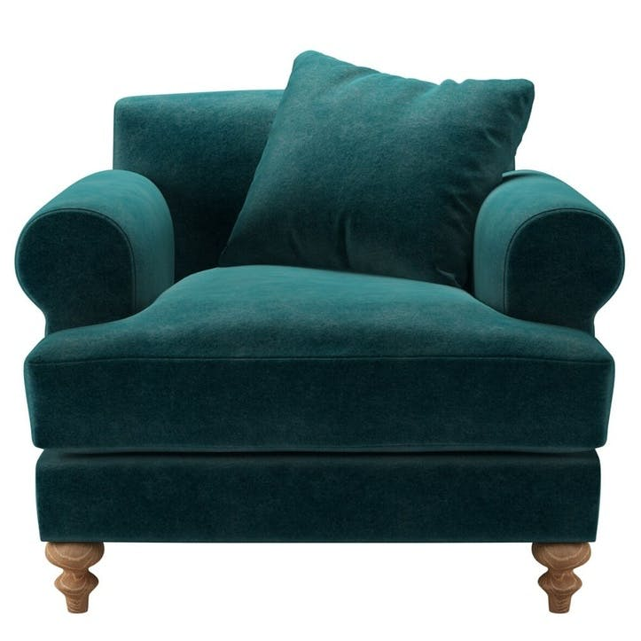 Teddy, Armchair, Jade Smart Velvet