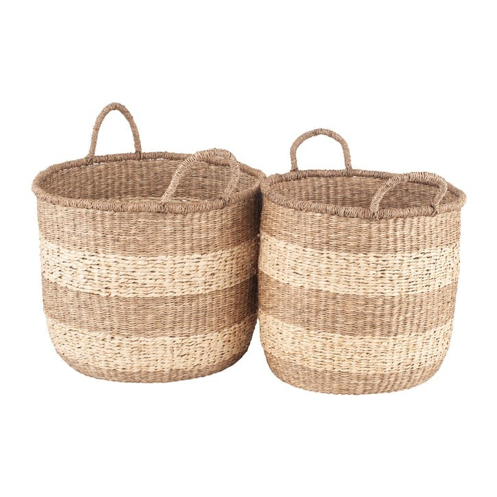 Brampton Woven Baskets, Set of 2