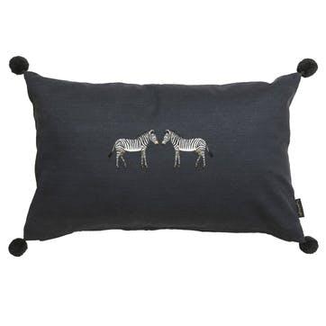 'Zebra' Embroidered Cushion