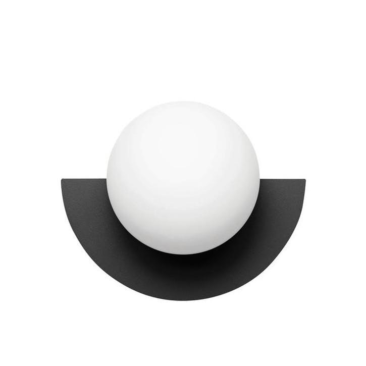 C, Plug in Wall Lamp, H28 x W22 x D20cm, Black