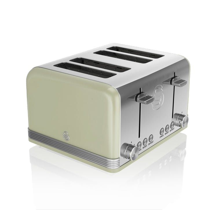 Retro 4-Slice Toaster, Green