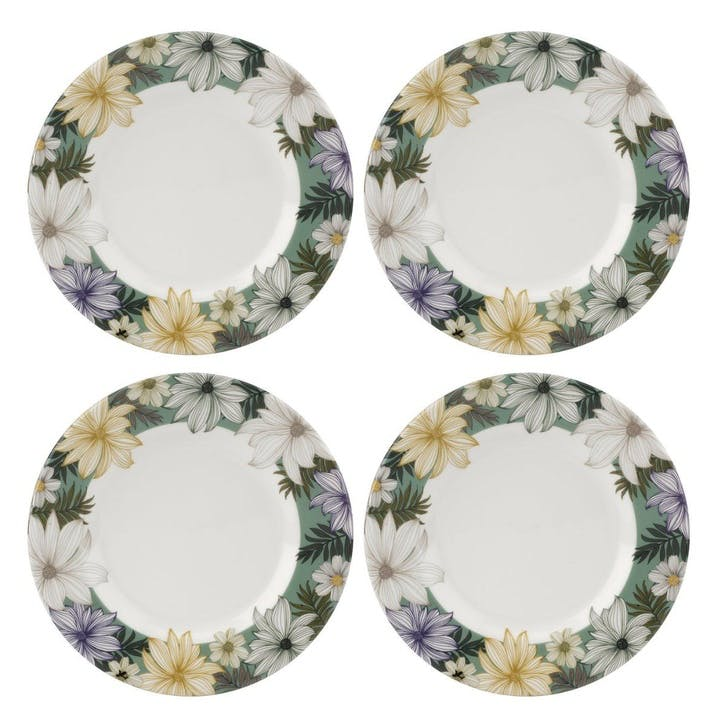 Atrium Side Plates, Set of 4, 8.75""