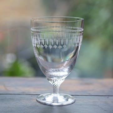 Oval Patterned Crystal Bistro Glasses, Set of 6