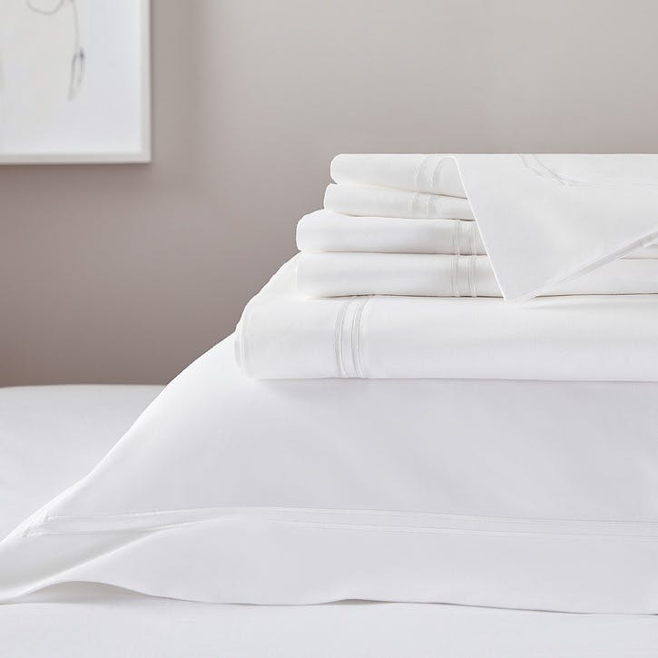 Symons Cord Deep Fitted Sheet, Super King, White