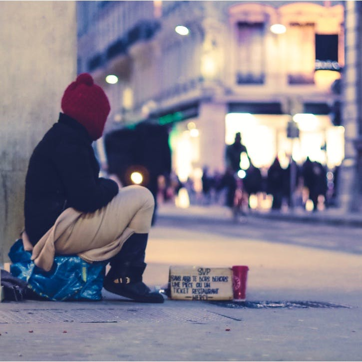 I promise to stop and speak to a homeless person