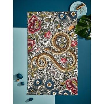 Tea Towel, Snake/Floral