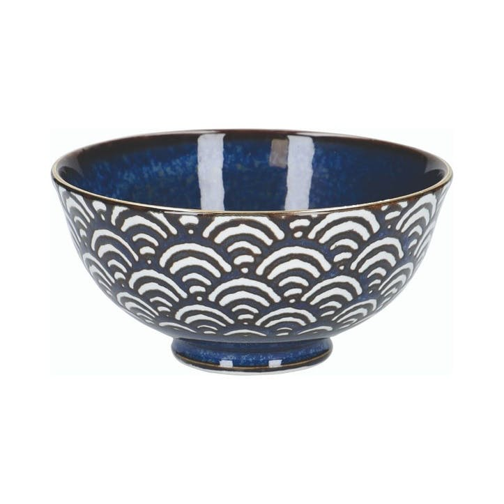 Satori Miso Serving Bowl, Seigaiha Wave