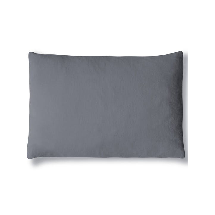 Mini Linen Cushion Cover, Charcoal