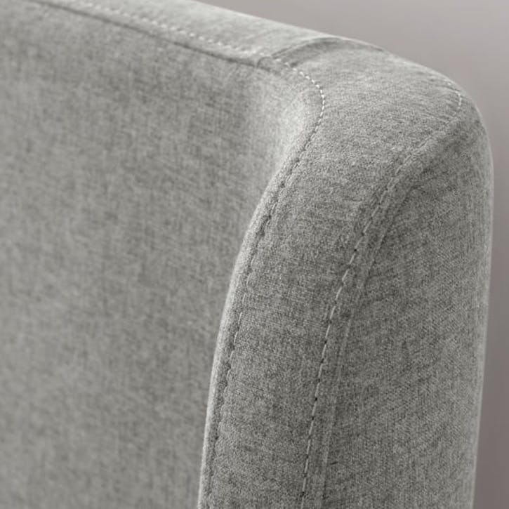 Roscoe Upholstered Bed - King; Cool Grey