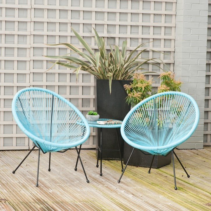 Rio 3 Piece Bistro Set, Blue