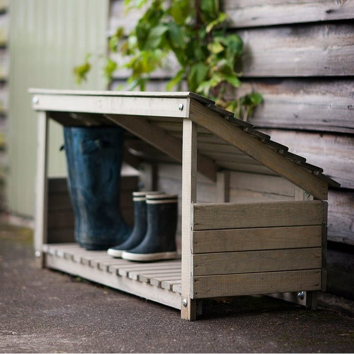 Wooden Welly Storage