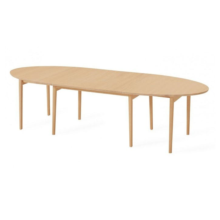 Ellipse Extending Dining Table 6 - 10 Seater Oak