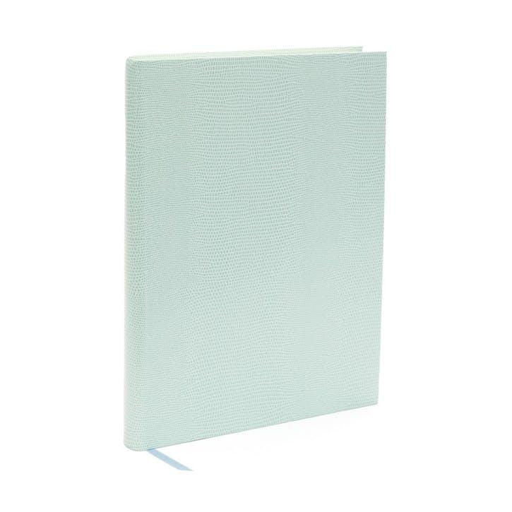 Jubilee Faux-Leather Medium Plain Journal, Aqua
