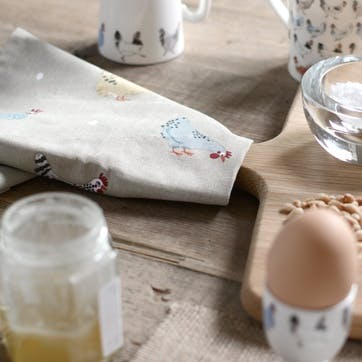 'Lay A Little Egg For Me' Tea Towels, Set of 2