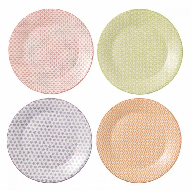 Pastels Accent Dinner Plates, Set of 4
