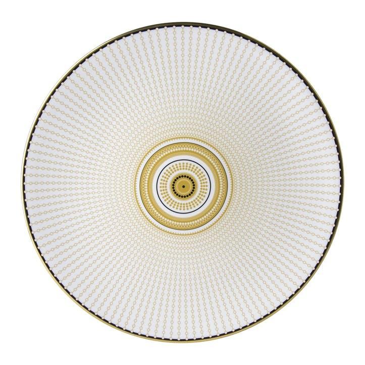 Oscillate Ochre Coupe Plate - 34cm ; Ochre