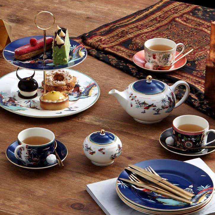 Wonderlust Blue Pagoda Teacup & Saucer
