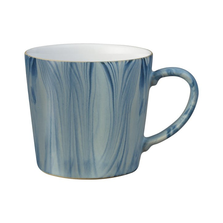 Handcrafted Blue Marbled Mug, 400ml