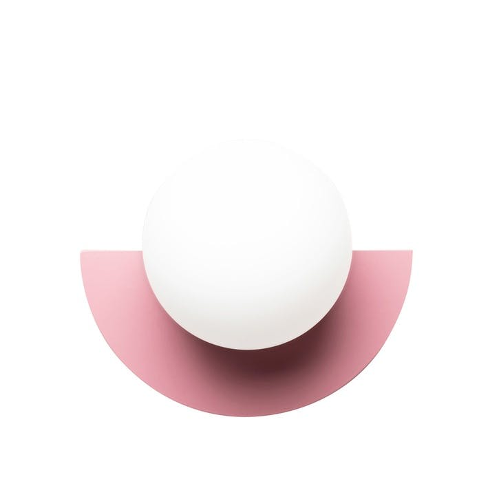 C, Plug in Wall Lamp, H28 x W22 x D20cm, Pink