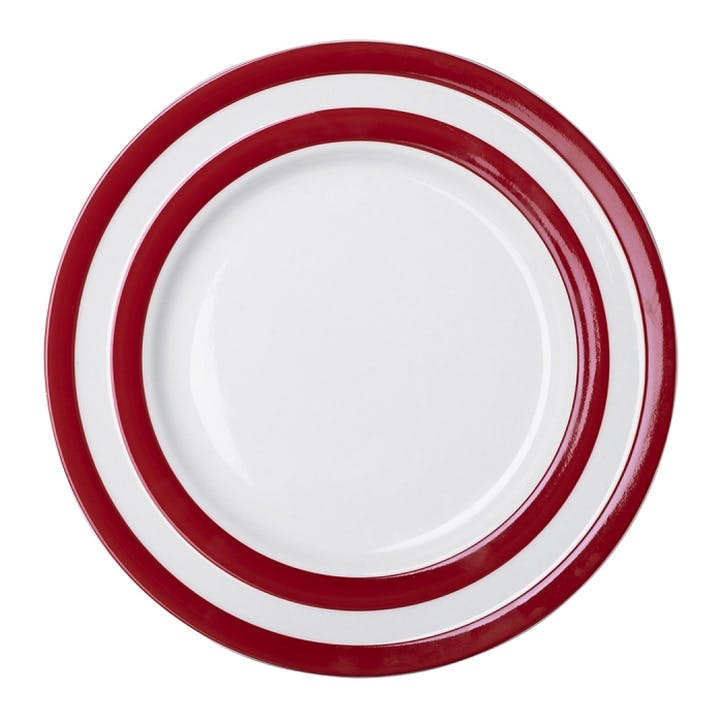 Set Of 4 Main Plates, 28cm, Red