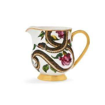 Cream Jug Fruit, Floral/Snake