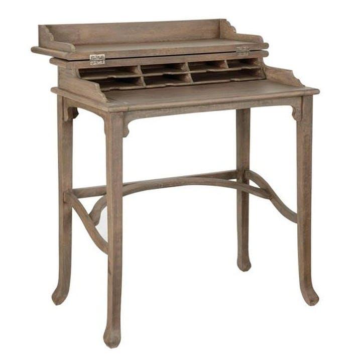 Campaign Desk, Vintage Oak