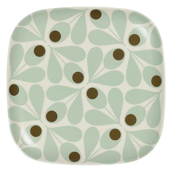 Bamboo Side Plate, Acorn Spot Blue