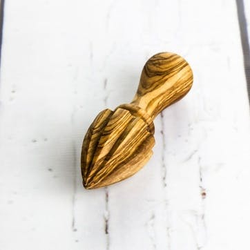 Traditional Olive Wood Lemon Squeezer - 15cm