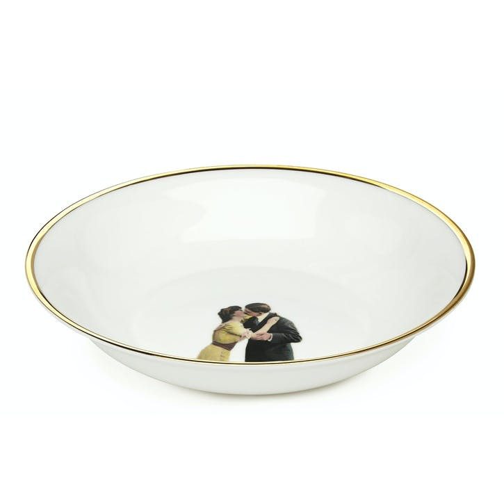 Modern Surrealist Kissing Couple Bowl