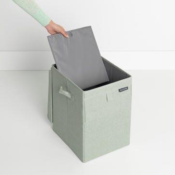 Linn Stackable Laundry Box, 35L, Green
