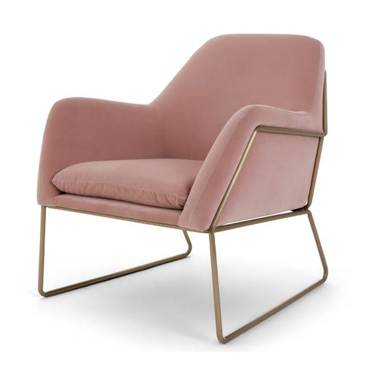 Frame Cotton Velvet Armchair; Blush