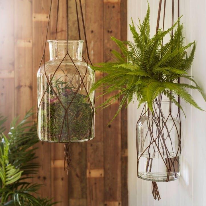 Hanging Large Glass Vase