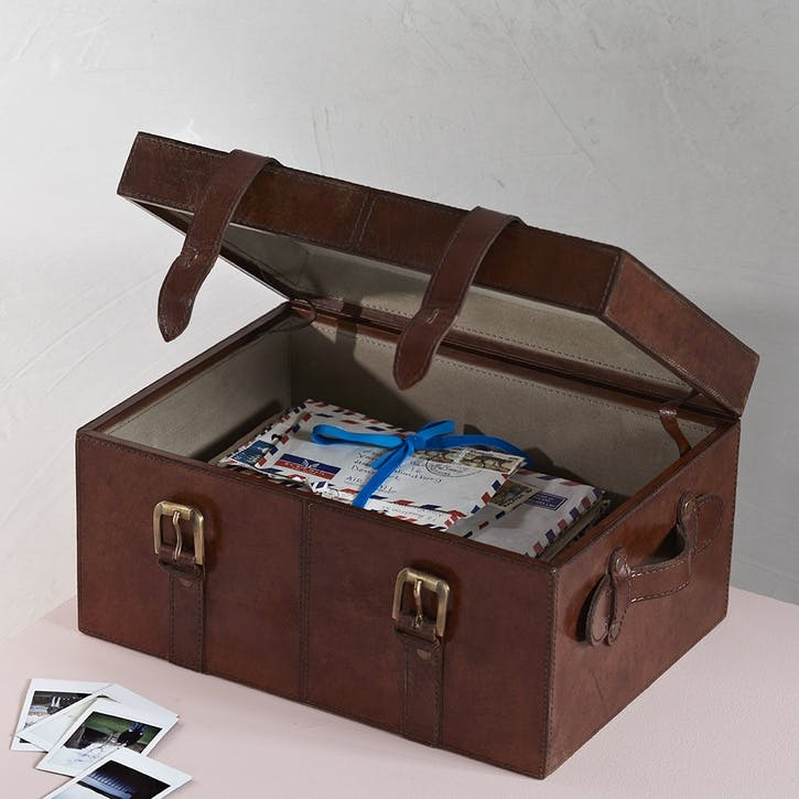 Leather Keepsake Trunk