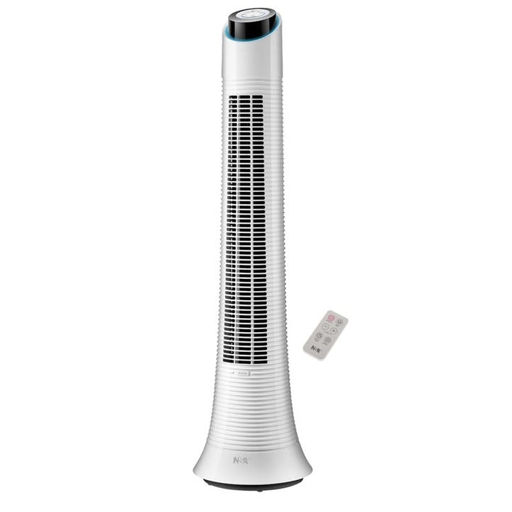 Rechargeable Eco Column Fan, White