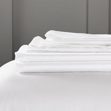 Camborne Fitted Sheet, King, White