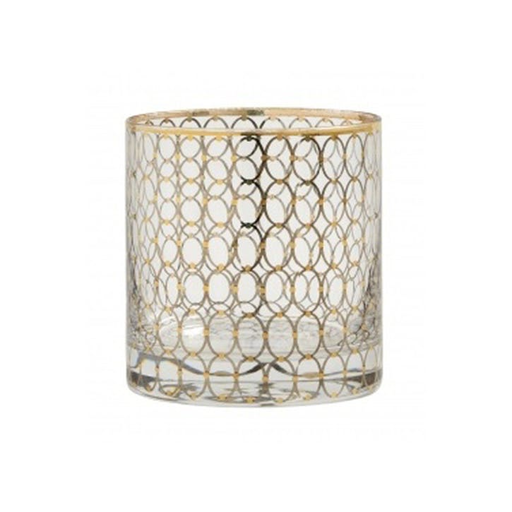 Circle Gold-Plated Tumblers, Set of 6