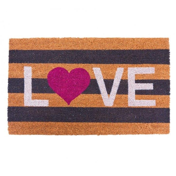 Love Stripes Doormat
