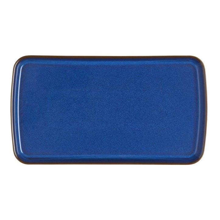 Imperial Blue Small Rectangular Platter, 25cm