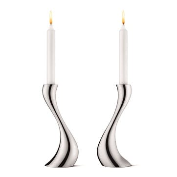 Small Cobra Candle Holders, Set of 2