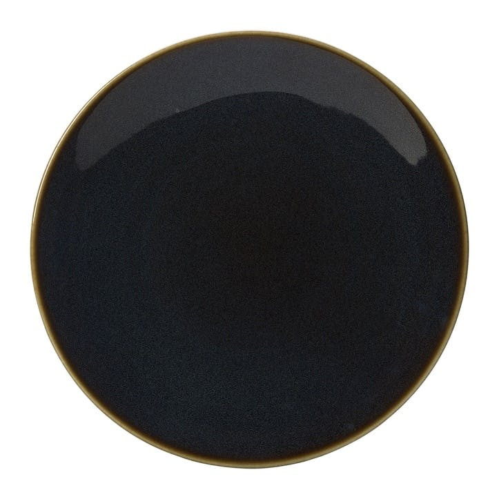 Art Glaze Coupe Charger Plate - 34cm; Clouded Smoke