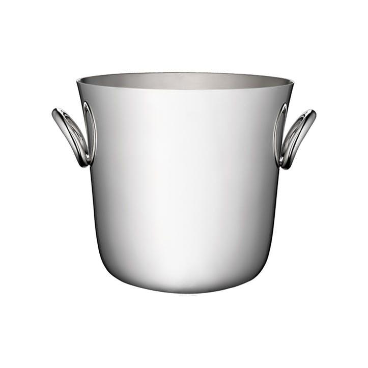 Vertigo Silver Plated Ice Bucket