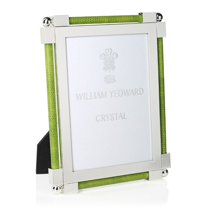 "Classic Lime Green Shagreen Photo Frame, 5""x7"""