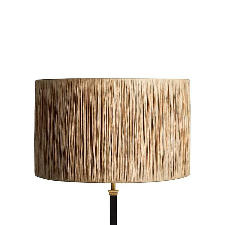 Rafferty Drum Shade, 40cm, Natural Raffia