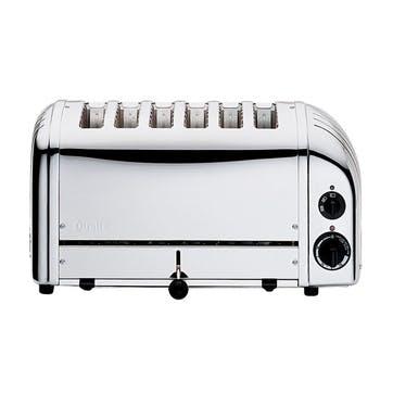 Classic Vario 6 Slot Toaster, Polished