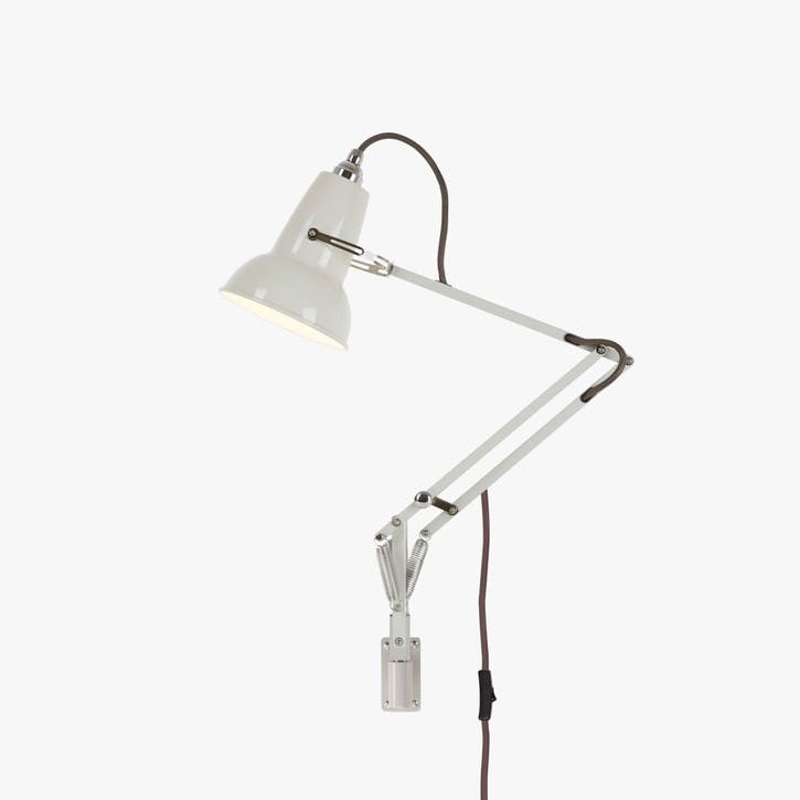 Mini Lamp with Wall Bracket Linen White
