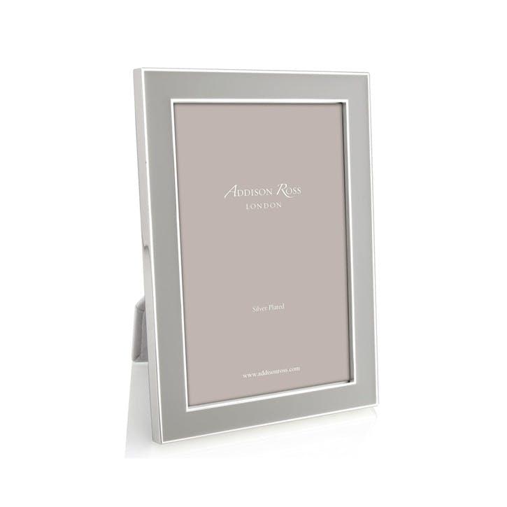 """Silver Plate Enamel Photo Frame - 4"""" x 6""""; Chiffon"""