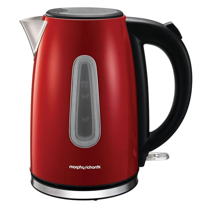 Equip Jug Kettle; Red Stainless Steel