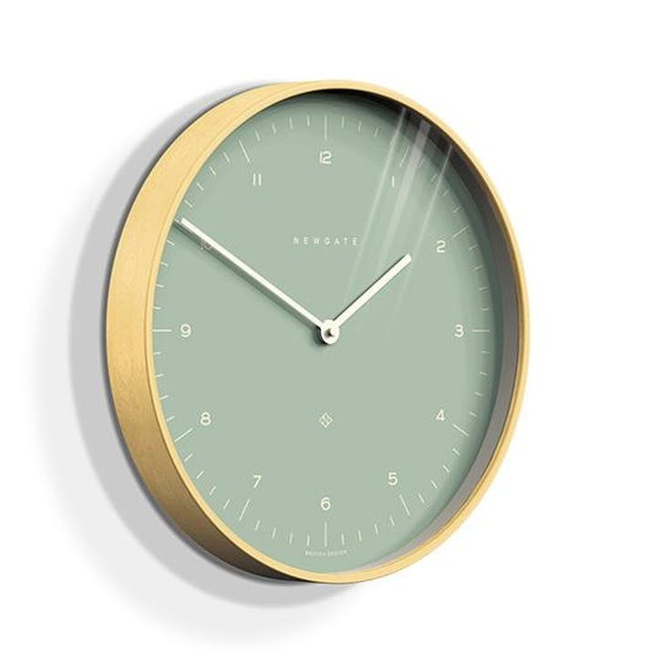 Mr Clarke Wall Clock, Mint Green